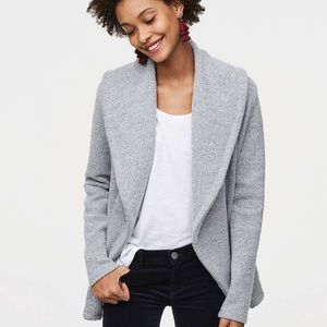 Foldover pocketed cardigan